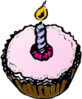 Birthday Cupcake Free Clip Art
