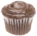 Chocolate Cupcake Free Clip Art