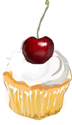 Cupcake with Cherry Free Clip Art