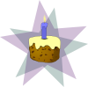 Cupcake with Candle Free Clip Art