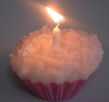cupcake candle