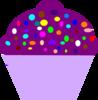 Purple Cupcake Free Clip Art