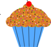 Cupcake with Frosting and sprinkles Free Clip Art