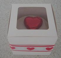 valentines day cupcakes in cupcake box