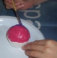 painting plaster cupcake molds or faux cupcakes